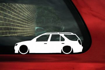 2x LOW Peugeot 306 Estate wagon XSi, D-turbo S outline stickers, Decals